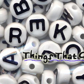 Alphabet Beads-White
