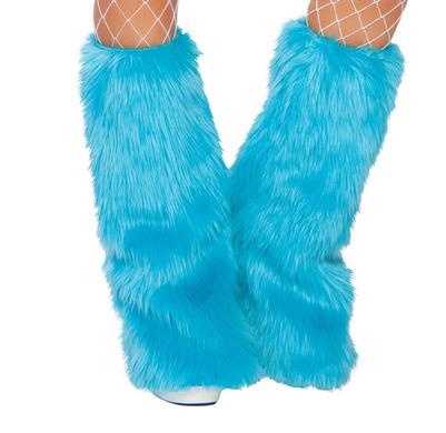 Fur Leg Warmer Turquoise