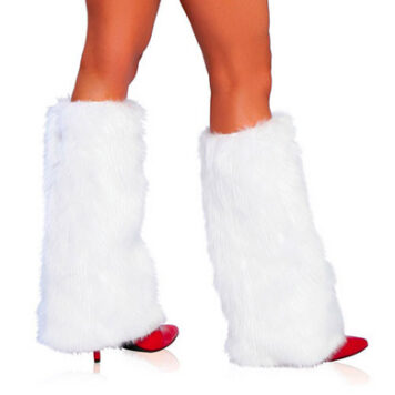 Fur Leg Warmer White