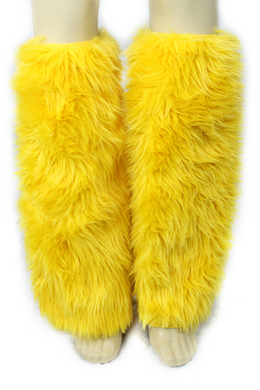 Fur Leg Warmer Yellow