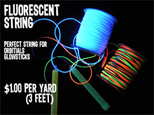 Fluorescent String-1 yd (3 FEET)
