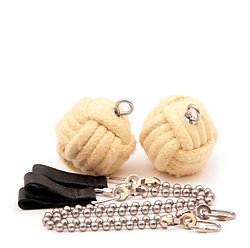 2.5inch Monkeyfist Pair-BALL CHAIN