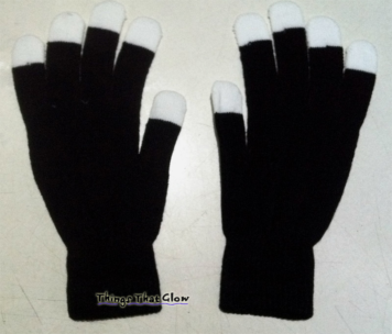 Pair of Empty Blackout Cotton Gloves