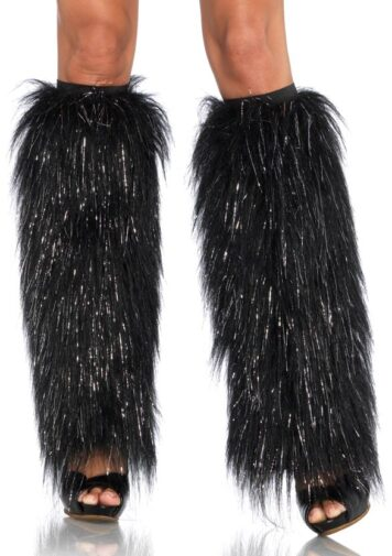 Furry Legwarmers-BLACK/SPARKLE