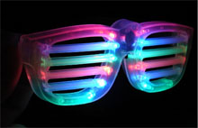 LED Slotted Flashing Glasses-CLEAR