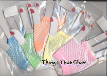 Neon Fishnet Glove Pair